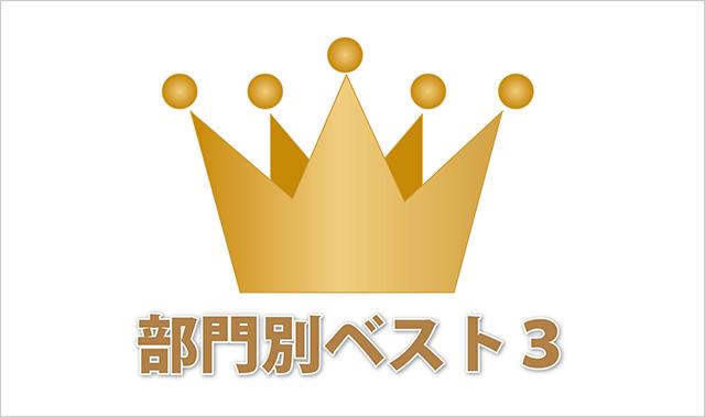 部門別ベスト3