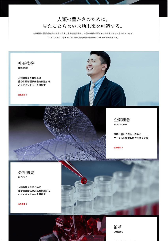 カスタム投稿タイプ(会社案内)